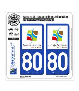 80 Haute Somme - Terres | Autocollant plaque immatriculation