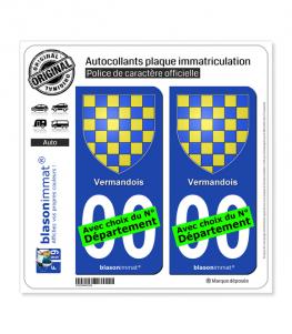 Vermandois - Armoiries | Autocollant plaque immatriculation