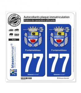 77 Fontainebleau - Armoiries | Autocollant plaque immatriculation