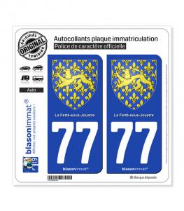 77 La Ferté-sous-Jouarre - Armoiries | Autocollant plaque immatriculation