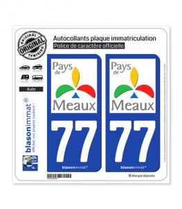 77 Meaux - Agglo | Autocollant plaque immatriculation