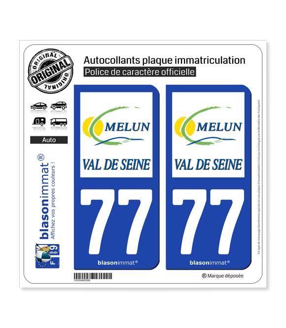 77 Melun - Agglo | Autocollant plaque immatriculation