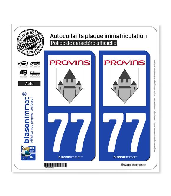 77 Provins - Ville | Autocollant plaque immatriculation