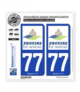 77 Provins - Tourisme | Autocollant plaque immatriculation