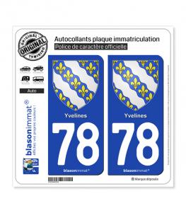 78 Yvelines - Armoiries | Autocollant plaque immatriculation