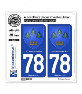 78 Les Clayes-sous-Bois - Armoiries | Autocollant plaque immatriculation
