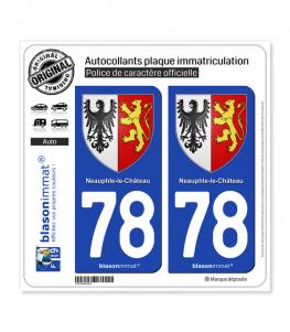 78 Neauphle-le-Château - Armoiries | Autocollant plaque immatriculation