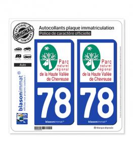78 Parc NR -  Haute Vallée de Chevreuse | Autocollant plaque immatriculation
