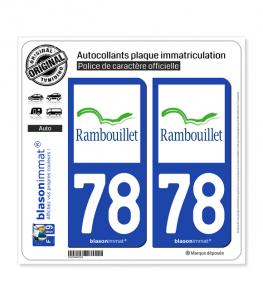 78 Rambouillet - Ville | Autocollant plaque immatriculation