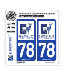 78 Rambouillet - Agglo | Autocollant plaque immatriculation