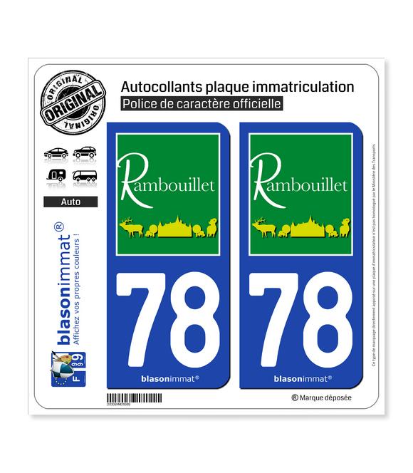 78 Rambouillet - Tourisme | Autocollant plaque immatriculation