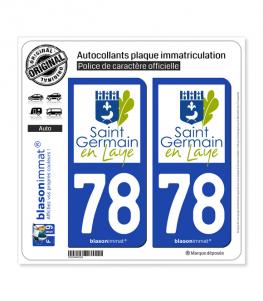 78 Saint-Germain-en-Laye - Ville | Autocollant plaque immatriculation