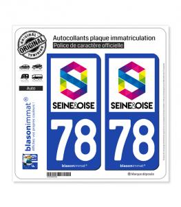 78 Seine et Oise - Agglo | Autocollant plaque immatriculation