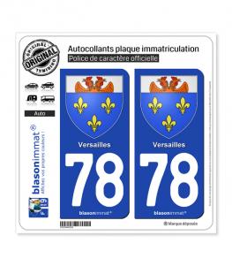 78 Versailles - Armoiries | Autocollant plaque immatriculation