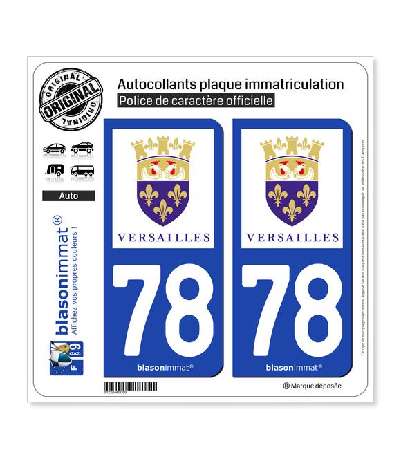 78 Versailles - Ville | Autocollant plaque immatriculation