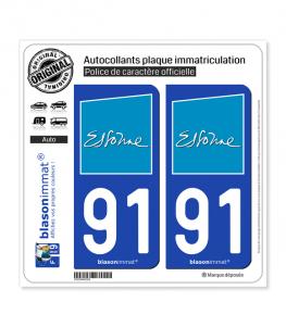 91 Essonne - Département | Autocollant plaque immatriculation