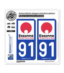 91 Évry - Agglo | Autocollant plaque immatriculation