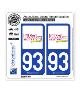 93 Clichy-sous-Bois - Ville | Autocollant plaque immatriculation