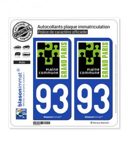 93 Saint-Denis - Agglo | Autocollant plaque immatriculation