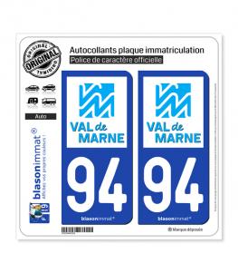 94 Val-de-Marne - Département | Autocollant plaque immatriculation