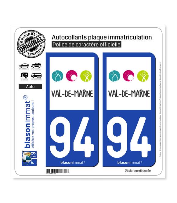94 Val-de-Marne - Tourisme | Autocollant plaque immatriculation