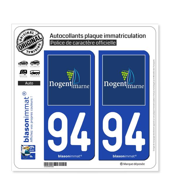 94 Nogent-sur-Marne - Tourisme | Autocollant plaque immatriculation