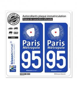 95 Argenteuil - Agglo | Autocollant plaque immatriculation