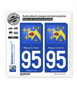 95 Magny-en-Vexin - Armoiries | Autocollant plaque immatriculation