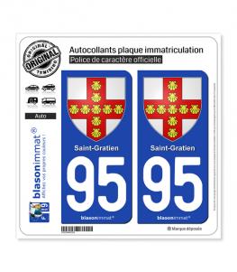 95 Saint-Gratien - Armoiries | Autocollant plaque immatriculation