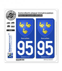 95 Sarcelles - Armoiries | Autocollant plaque immatriculation