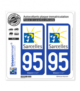 95 Sarcelles - Ville | Autocollant plaque immatriculation