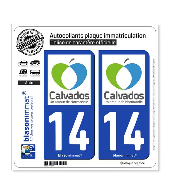 14 Calvados - Tourisme | Autocollant plaque immatriculation