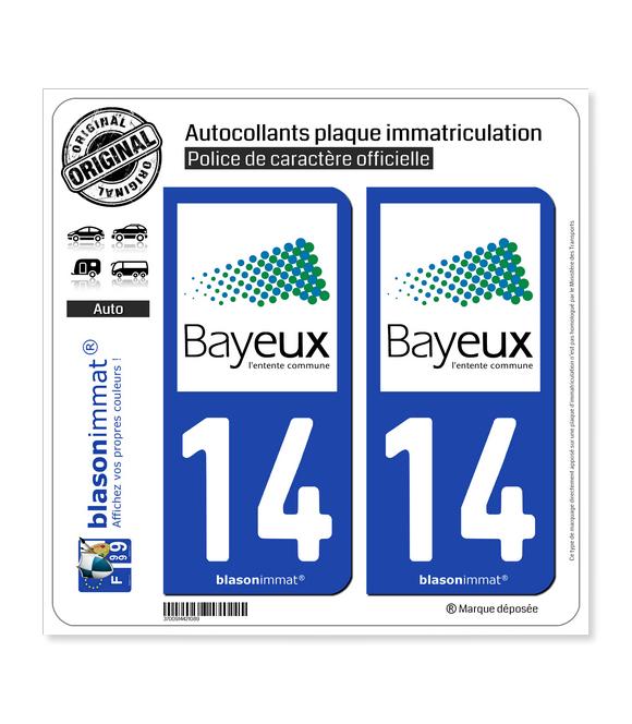 14 Bayeux - Agglo | Autocollant plaque immatriculation