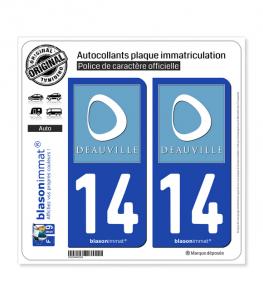 14 Deauville - Tourisme | Autocollant plaque immatriculation