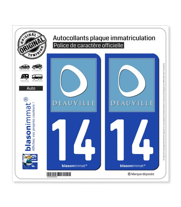 14 Deauville - Tourisme   Autocollant plaque immatriculation