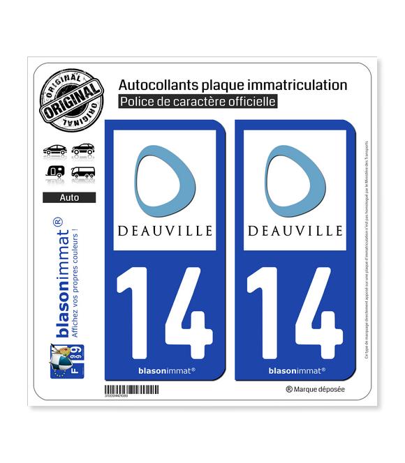 14 Deauville - Ville | Autocollant plaque immatriculation
