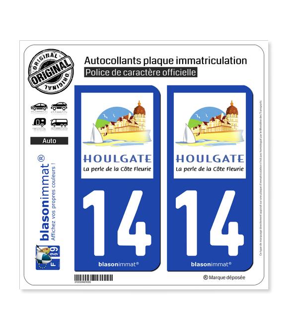 14 Houlgate - Tourisme | Autocollant plaque immatriculation