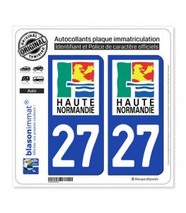 27 Haute-Normandie - LogoType | Autocollant plaque immatriculation