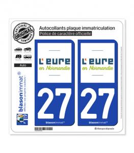 27 Eure - Département | Autocollant plaque immatriculation