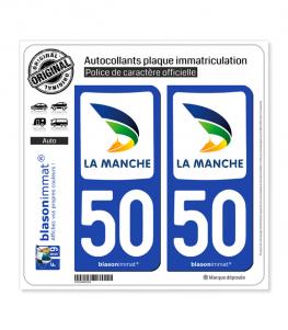 50 Manche - Département | Autocollant plaque immatriculation