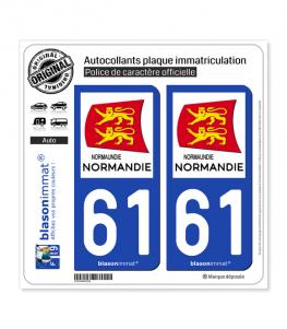 61 Normandie - Région | Autocollant plaque immatriculation