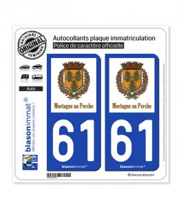 61 Mortagne-au-Perche - Commune | Autocollant plaque immatriculation