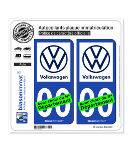 Volkswagen | Autocollant plaque immatriculation