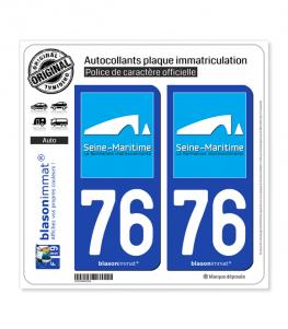 76 Seine-Maritime - Tourisme | Autocollant plaque immatriculation