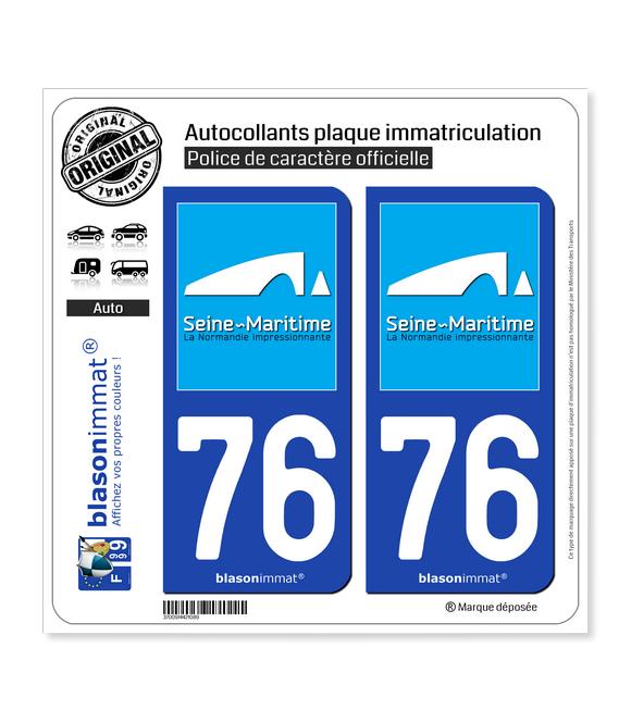 76 Seine-Maritime - Tourisme   Autocollant plaque immatriculation