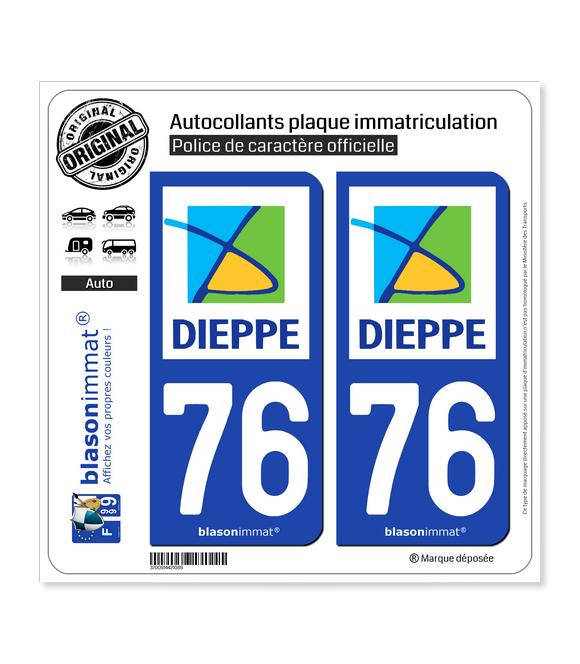 76 Dieppe - Agglo | Autocollant plaque immatriculation