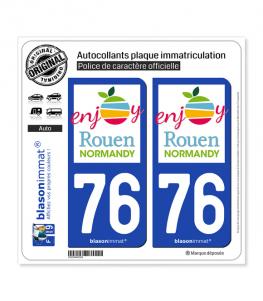76 Rouen - Tourisme | Autocollant plaque immatriculation