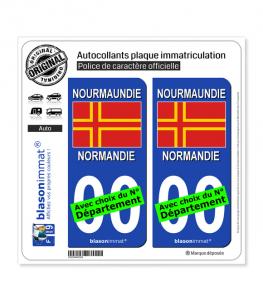 Normandie - Croix de Saint Olaf | Autocollant plaque immatriculation