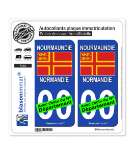 Normandie - Croix de Saint Olaf II | Autocollant plaque immatriculation