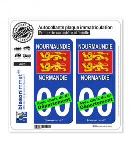 Normandie - Drapeau | Autocollant plaque immatriculation